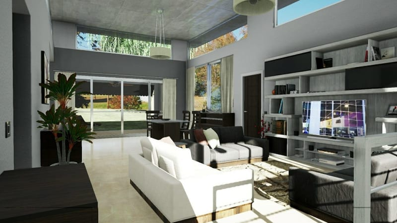 Living area_furnishing elements_software BIM Edificius