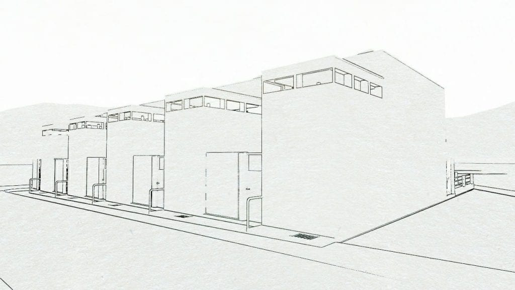 Terraced-houses-simple-quarter-Weissenhof-–-haus-5-9-Stoccarda-di-J.J.P.-Oud - render software BIM Edificius
