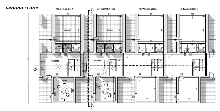 Townhouses by famous architects – floor plan inspired by one of Mario Botta's projects