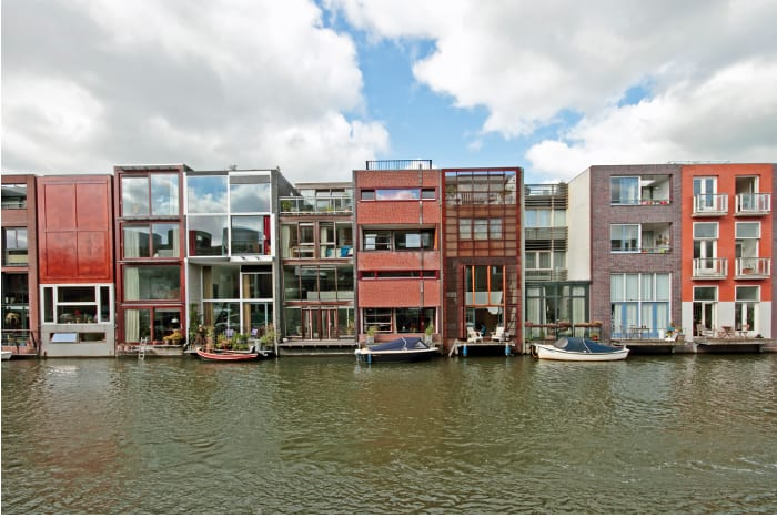 Townhouses in Borneo, Amsterdam_facade by the sea