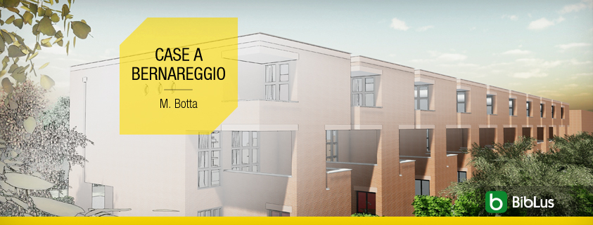 Contemporary townhouses by famous architects a work by Mario Botta reproduced with BIM model and CAD resources software BIM Architecture Edificius