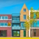 Townhouse projects and typologies with DWG drawings and graphical content-architecture BIM software Edificius