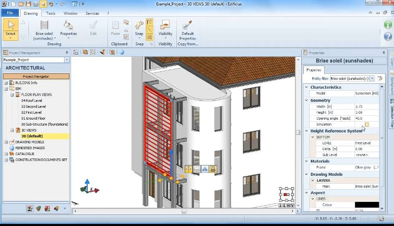 Properties-brisesoleil-object-software-BIM-architecture-Edificius