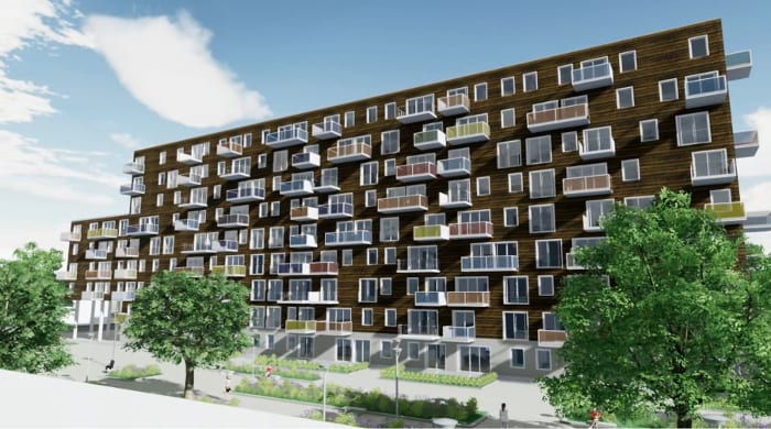 Wozoco Apartments - render made with Edificius - architectural BIM software