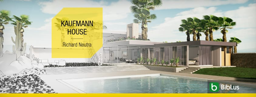 Single-family detached home definition architecture and projects to download-BIM software-Edificius-Kaufmann House-Richard Neutra