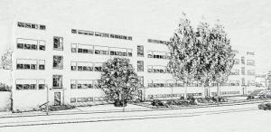 Weissenhof – Stuttgart, row houses by Mies van der Rohe – sketch work