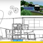 A two-storey single-family detached home project with CAD resources ready for download