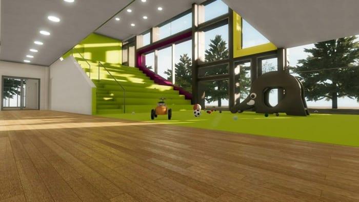 Hallway_school-building-projects-Troplo-Kids_render_software-BIM-architecture_Edificius