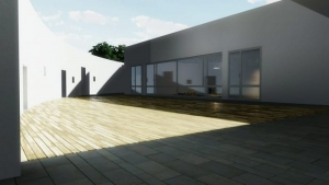 Kindergarten-design_courtyard_render-software-BIM-architecture-Edificius