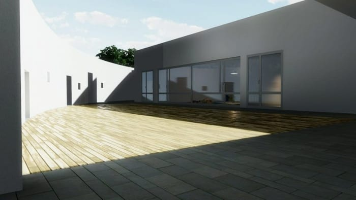 Kindergarten-design_courtyard_render-software-BIM-architecture-Edificius