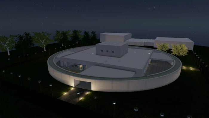 Kindergarten-architecture_night view_render-software-BIM-architecture-Edificius