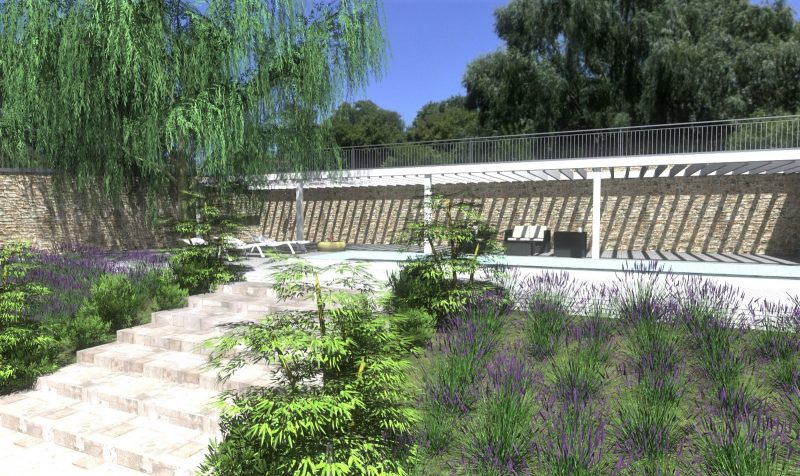 Landscape design plans_How to design a garden_Rendering with Edificius
