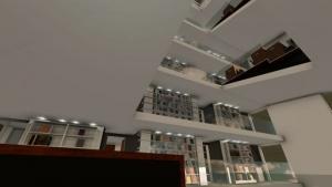 Render_panoramic view_library building design_ software BIM architecture Edificius