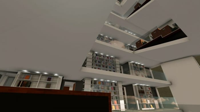 Render_panoramic view_library building design_ software BIM architecture Edificius