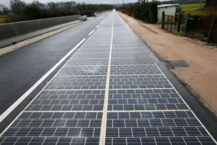 example of solar-roadway lane