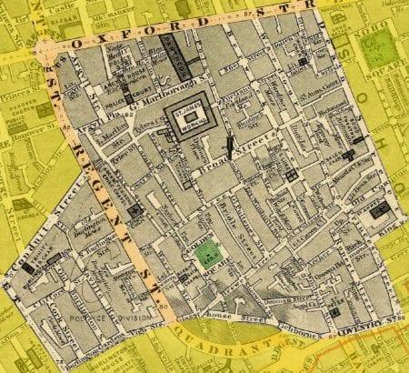 gis history cartography - London Soho