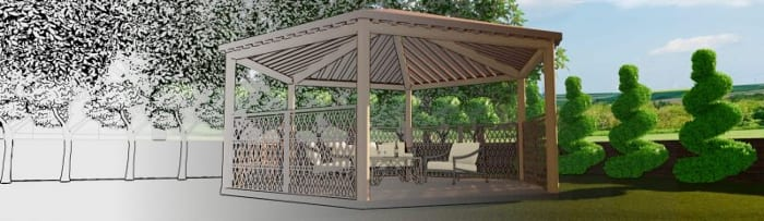 gazebo project render- BIM architectural softwareEdificius
