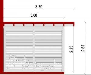 gazebo project canopy section - BIM architectural software Edificius