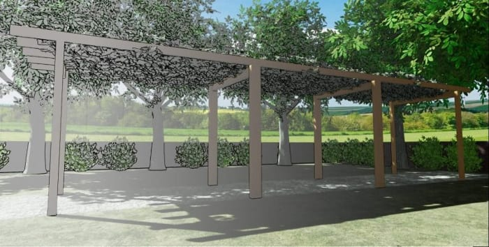 pergola project render graphic-architectural BIM software Edificius