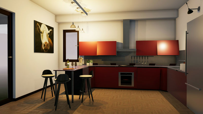 Kitchen-rendering_How to design a kitchen_Edificius