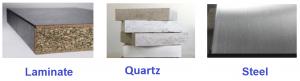 Countertop material examples_Edificius