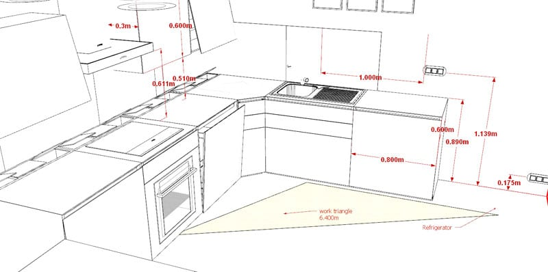 Standard dimensions_How to design a kitchen