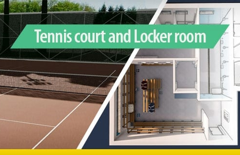 Tennis court and Locker room_software-BIM-architecture-Edificius