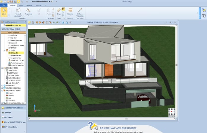 3D BIM model example produced with Edificius-10-innovative-technologies-AEC-industry
