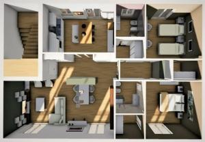 apartament-project-renovation_aerial-Render_after_software-BIM-architecture_Edificius