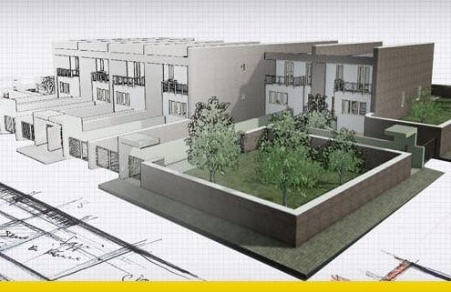 A modern townhouse design project-dwg-drawings_software-BIM-architecture-Edificius