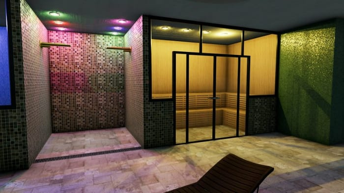 Wellness centre and spa design-architectural-BIM-design-software