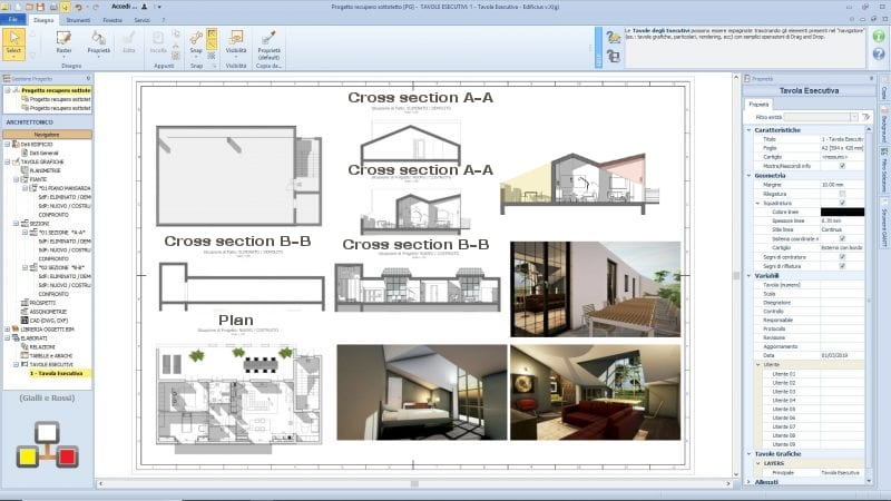 Attic renovation project: ideas and examples-render-project-drawing-software-architecture-bim-edificius