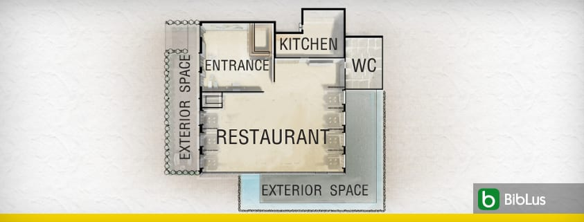 Restaurant layout: 5 design tips with project criteria and 3D models ready to use