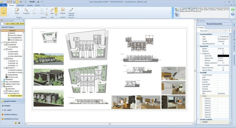 A modern townhouse design project-dwg-drawings-working-drawing_software-BIM-architecture-Edificius