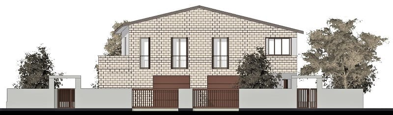 How to design a two-family house_elevation_software-architecture-BIM-Edificius