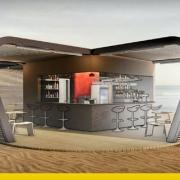 How to the design of a kiosk bar
