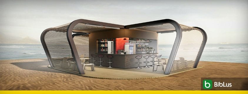 How to the design of a kiosk bar
