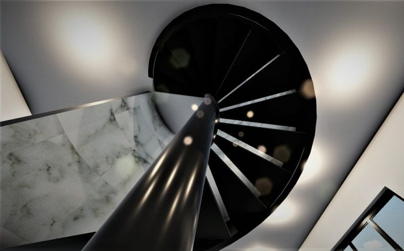 Technical guide to a spiral staircase design