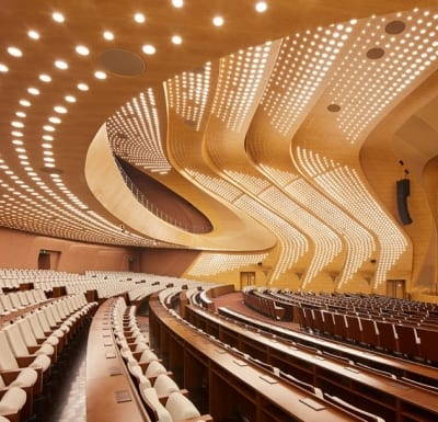 The Nanjing International Youth Cultural Centre by Zaha Hadid