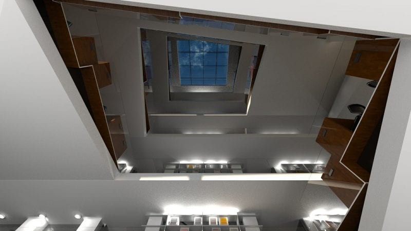 Staircase rendering produced with Edificius
