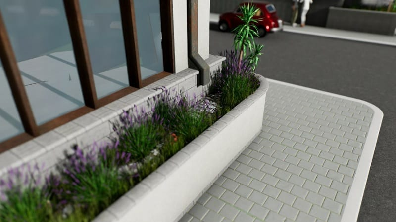 Rain garden design in urban context