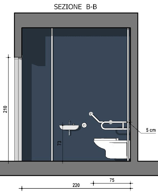 disabled toilet dimensions