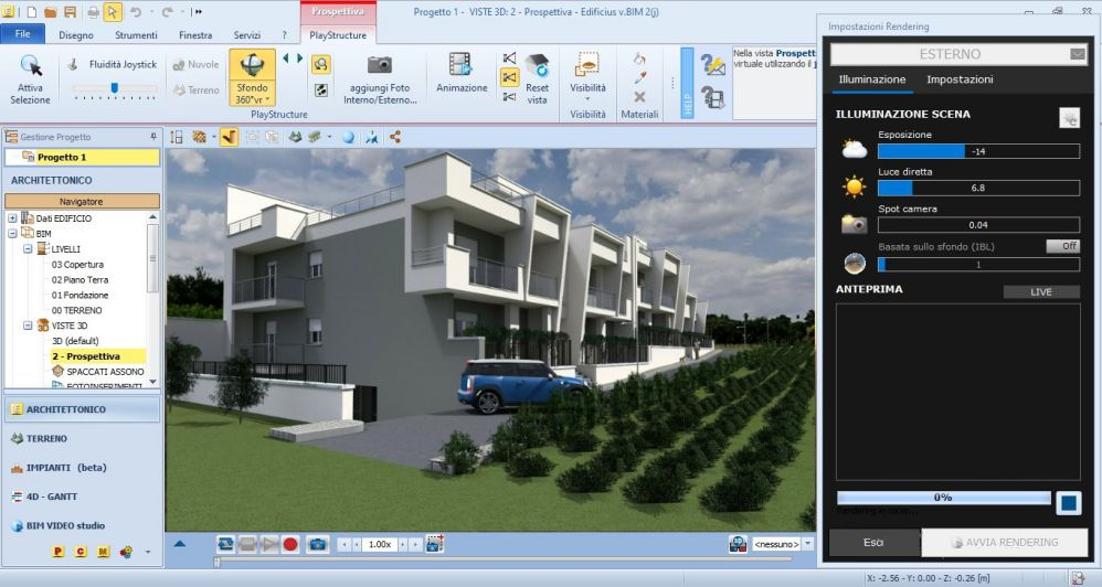Edificius User eXperience #1: architectural design of a residential complex