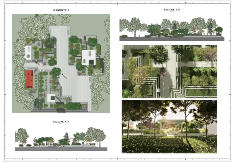 landscaping architecture, garden and public space design