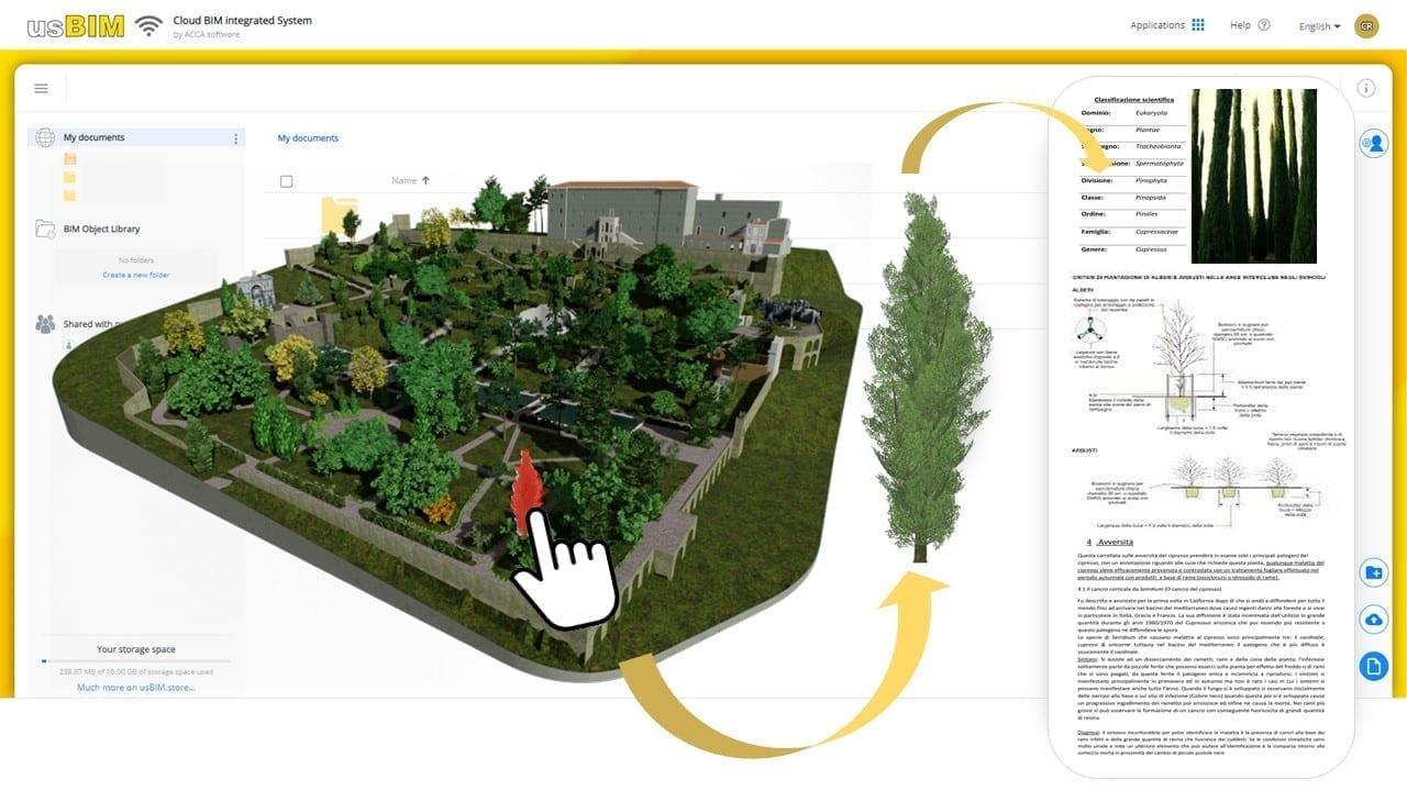 BIM management for historic parks and gardens