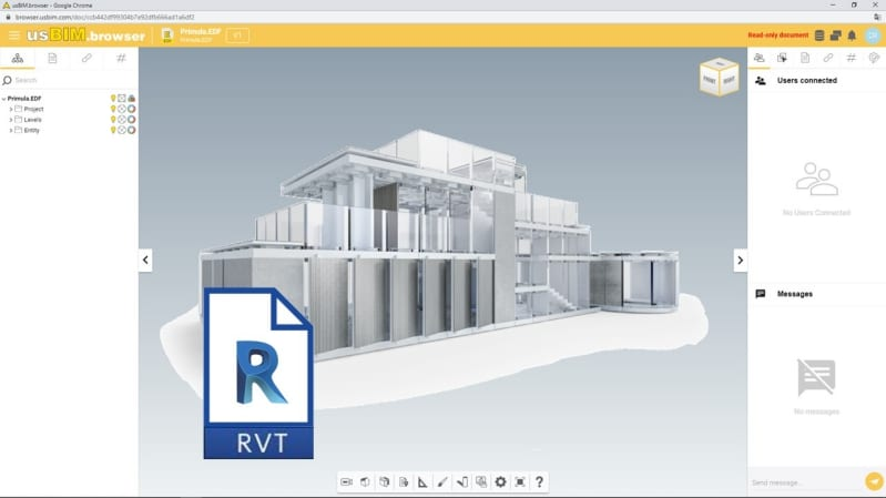 Open and view a Revit file