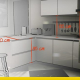 designing a kitchen with an architectural BIM design software