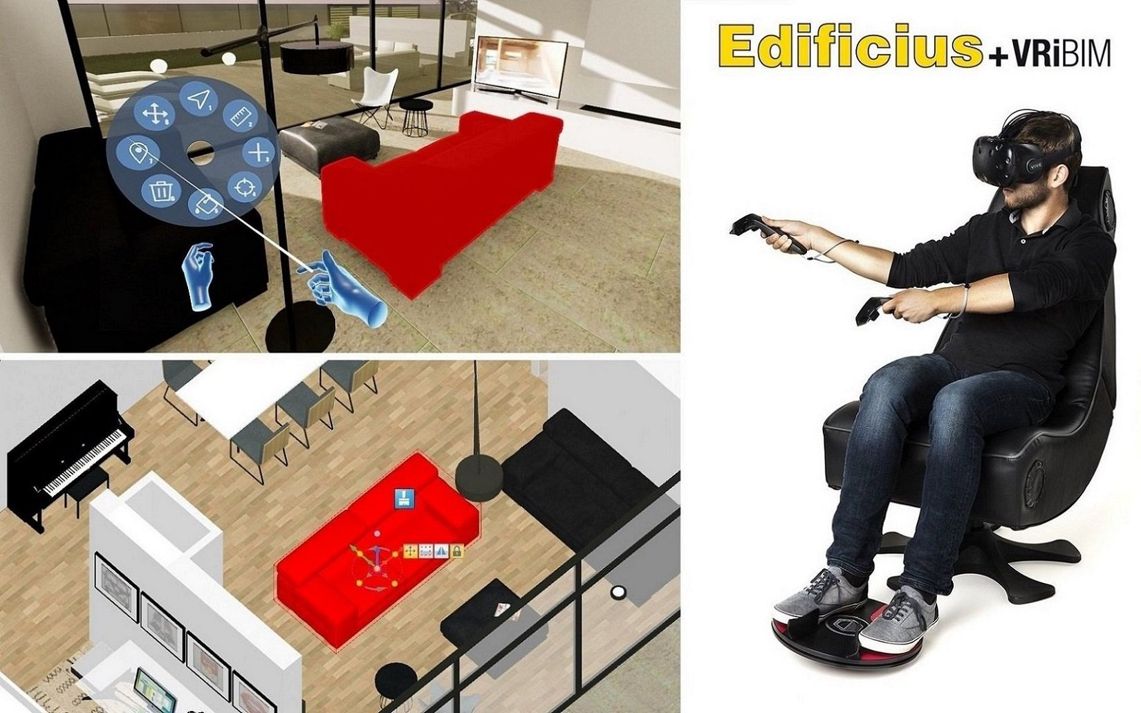 Virtual tour of your BIM models in immersive VR directly in Edificius | VRiBIM supporting 3DRudder