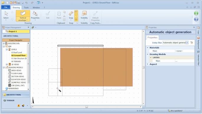 imagen que muestra como dibujar una envolvente generandola automaticamente a partir de una Magnetic Grid
