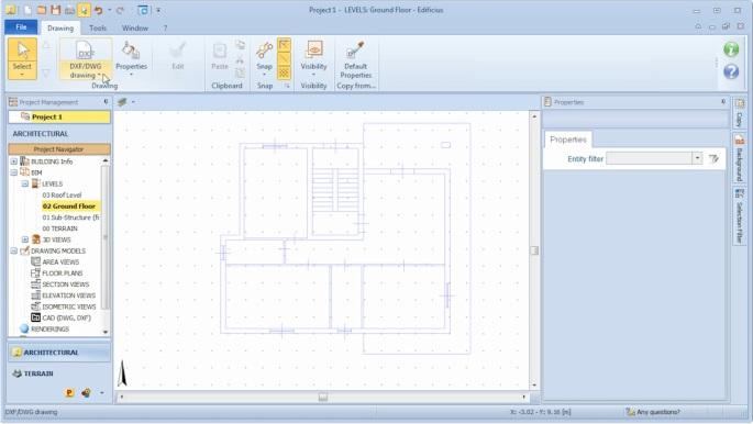 imagen que muestra como insertar un dibujo dxf en el ambiente de trabajo